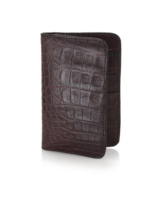 Santiago Gonzalez - Brown Crocodile Small Wallet for Men - Lyst
