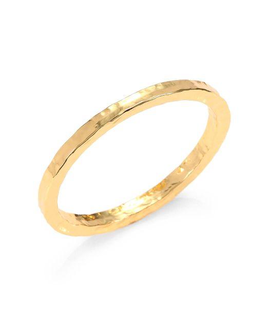 Nest | Metallic Sterling Silver Hammered Bangle Bracelet/goldtone | Lyst