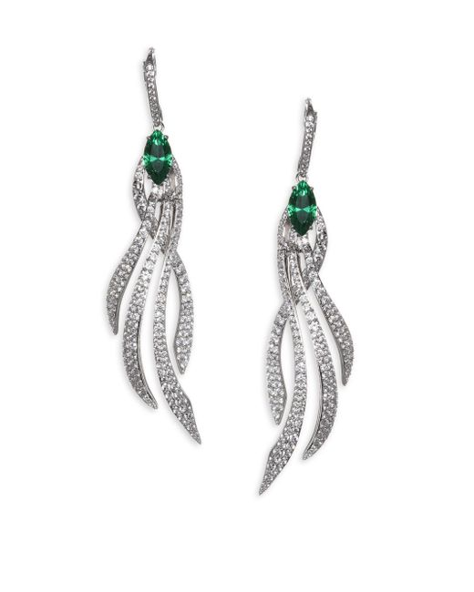 Adriana Orsini - Metallic Lush Crystal Leverback Earrings - Lyst