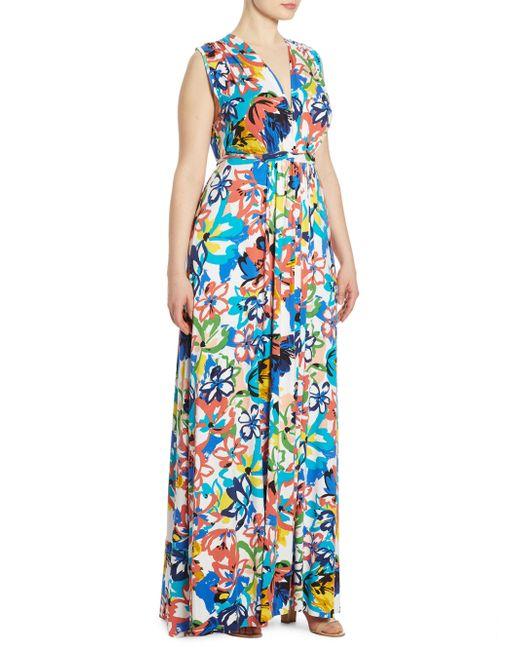 Rachel Pally   Blue Floral Sleeveless Maxi Dress   Lyst