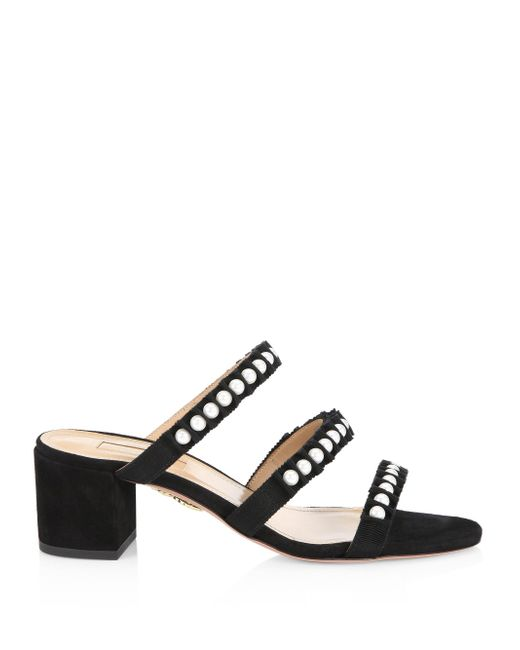 Aquazzura Love Story Leather Sandals ssjLUC