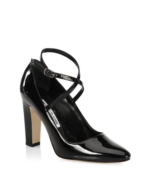 Manolo Blahnik | Black Majusa 105 Patent Leather Pumps | Lyst