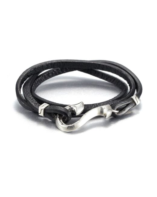 John Hardy - Black Sterling Silver And Leather Wrap Bracelet for Men - Lyst