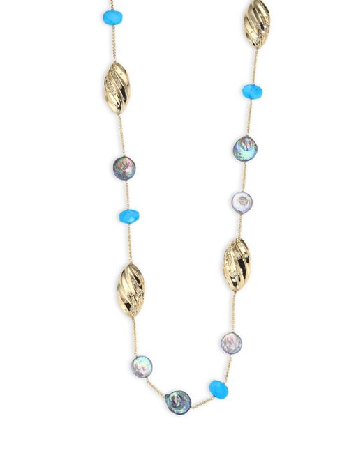 Alexis Bittar   Multicolor Elements Pleated Link Station Necklace   Lyst