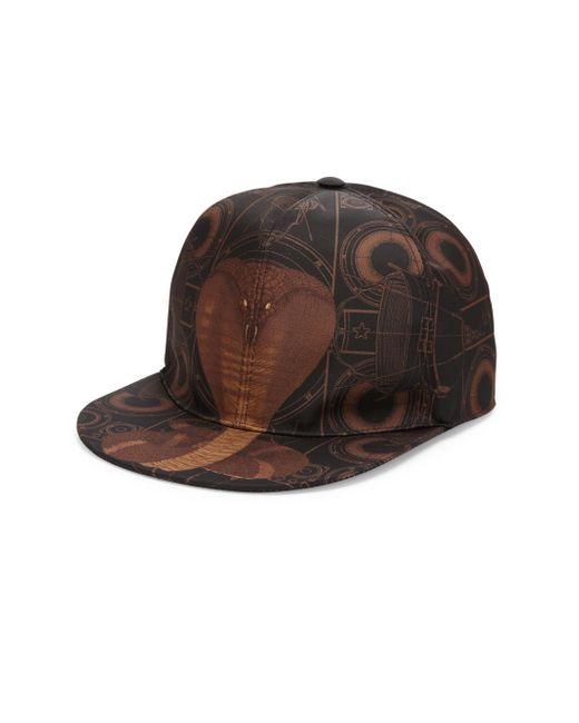 Givenchy - Brown Cobra Print Hat for Men - Lyst