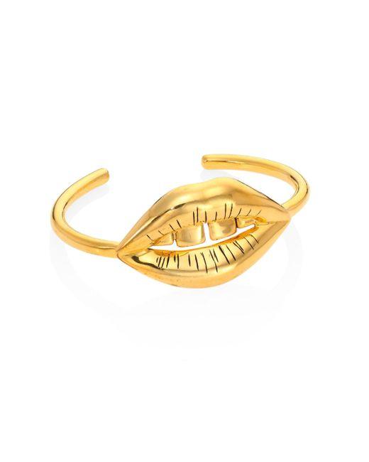 Aurelie Bidermann | Metallic Red District Lip Shocker Bracelet | Lyst