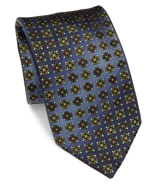 Brioni | Blue Printed Silk Tie for Men | Lyst