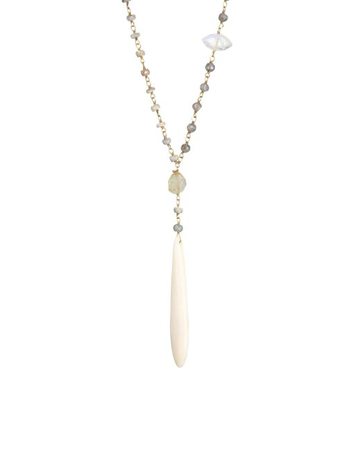 Chan Luu - White Mix Adjustable Necklace - Lyst