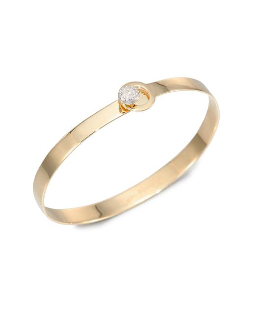 Phillips House - Metallic Love Always Diamond & 14k Yellow Gold Bangle Bracelet - Lyst