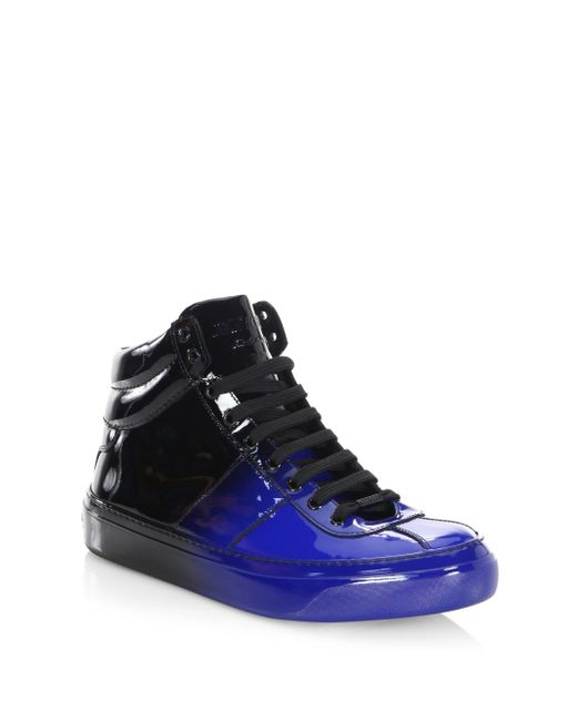 Jimmy Choo | Blue Degrade Leather High-top Sneakers for Men | Lyst