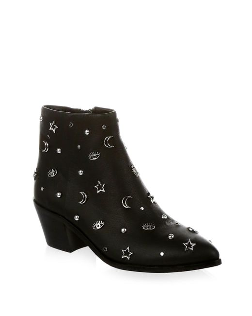 Rebecca Minkoff - Black Lizzie Embellished Leather Booties - Lyst