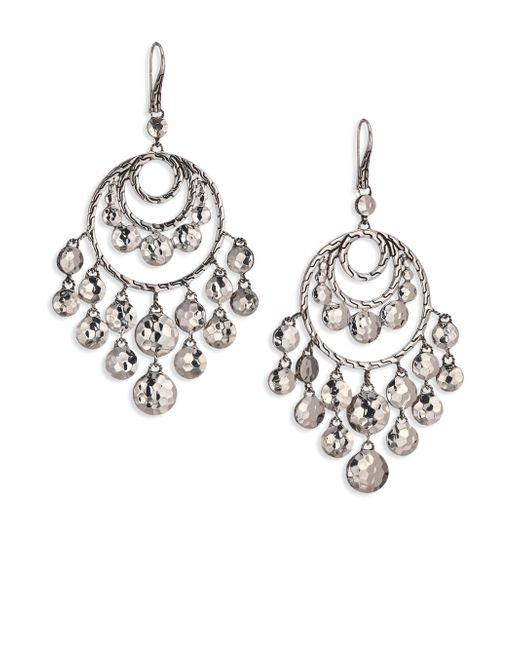John Hardy | Metallic Palu Sterling Silver Disc Chandelier Earrings | Lyst