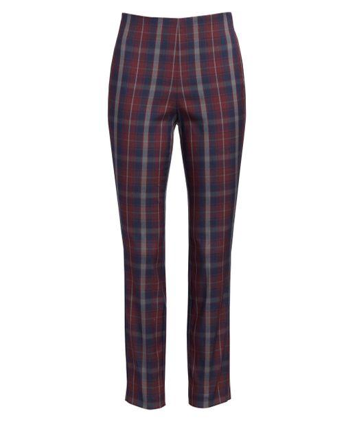 Rag & Bone - Multicolor Women's Simone Plaid Crop Skinny Pants - Burgundy Plaid - Size 6 - Lyst