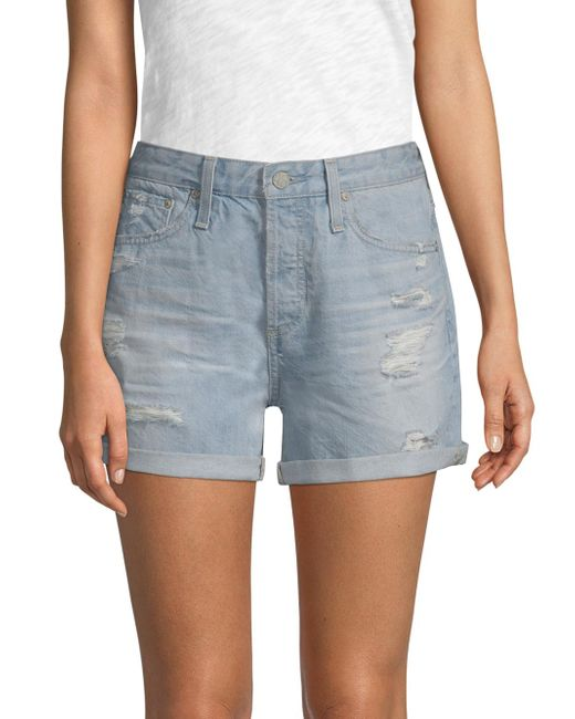 AG Jeans - Blue Alex Cut-off Jean Shorts - Lyst