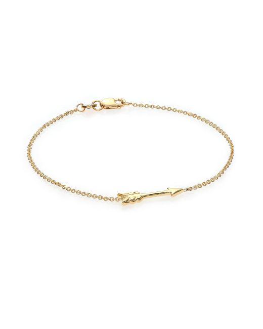 Roberto Coin - Metallic Tiny Treasures 18k Yellow Gold Arrow Bracelet - Lyst