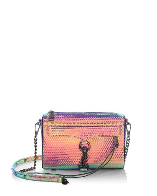 Rebecca Minkoff | Multicolor Mini Mac Hologram Crossbody Bag | Lyst