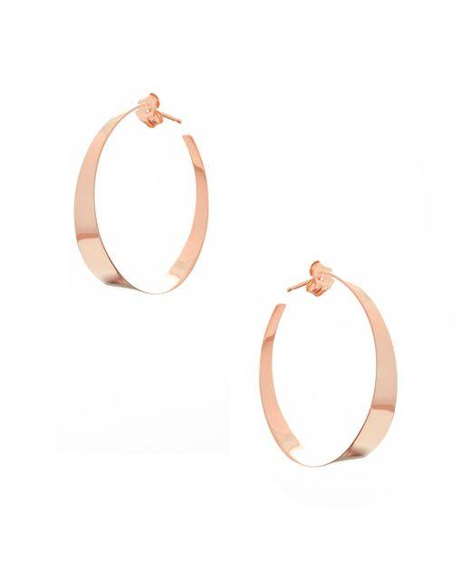 Lana Jewelry | Metallic Small Flat Gloss 14k Rose Gold Hoop Earrings | Lyst