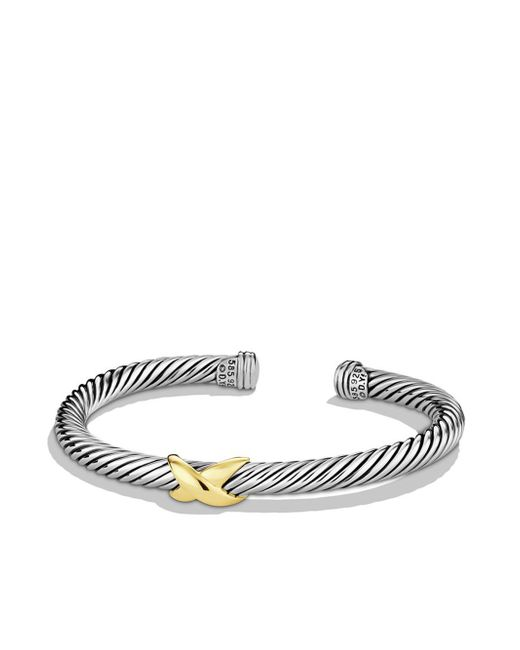 David Yurman - Metallic X Bracelet With Gold - Lyst