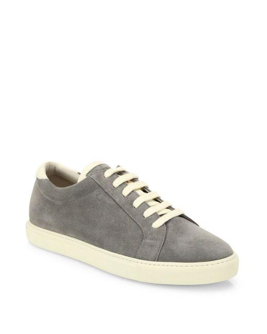 Brunello Cucinelli   Gray Suede Apollo Sneakers   Lyst