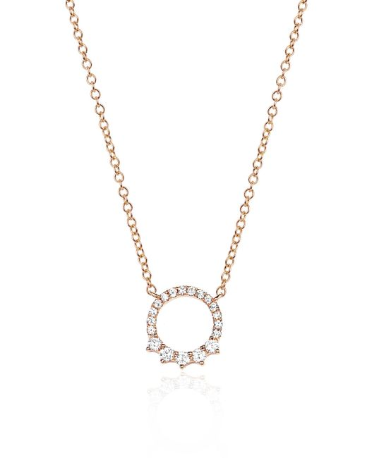 EF Collection - Metallic Circle Pendant Necklace - Lyst