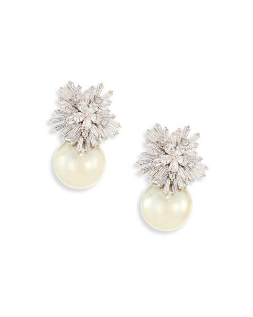 Fallon - Metallic Monarch Starburst Faux-pearl Drop Earrings - Lyst