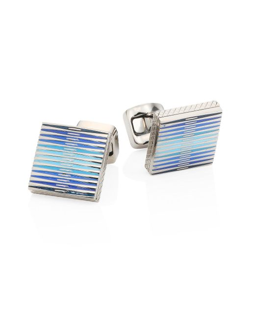 Tateossian - Blue Graphic Titanium Cuff Links for Men - Lyst