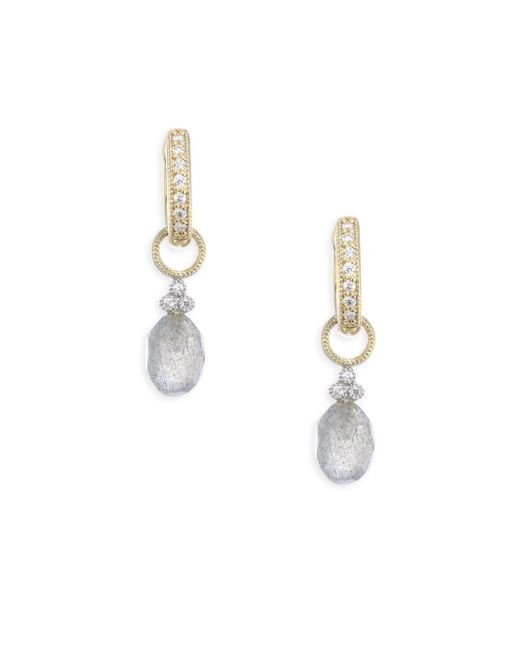 Jude Frances | Multicolor Provence Champagne Briolette Diamond & Labradorite Earring Charms | Lyst