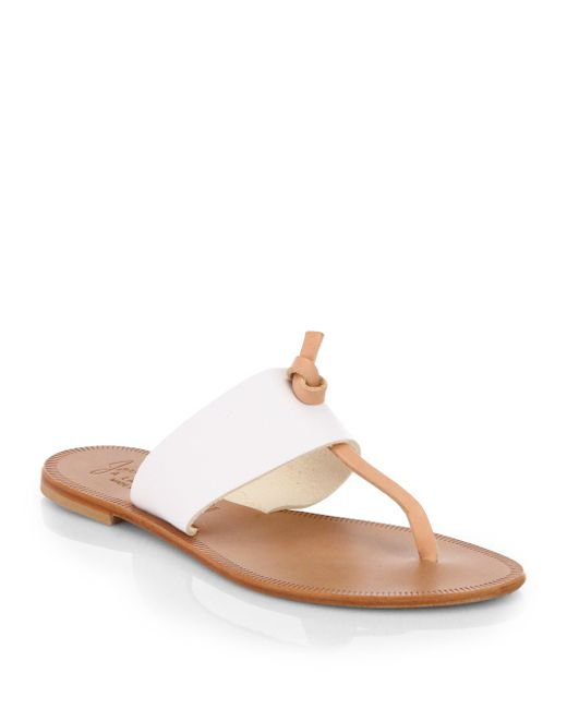 Joie | White Nice Two-tone Leather Sandals | Lyst