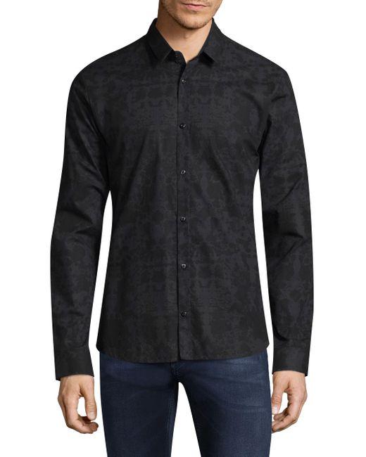 BOSS | Blue Ero Regular-fit Cotton Button-down Shirt for Men | Lyst