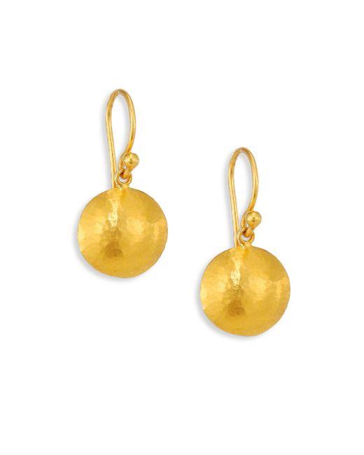 Gurhan | Metallic Lentil Large 24k Yellow Gold Drop Earrings | Lyst