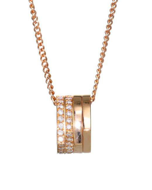 Repossi - Metallic Antifer Pave Diamond & 18k Rose Gold Four-row Pendant Necklace - Lyst