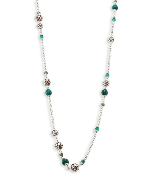 John Hardy | Metallic Batu Dot Malachite, Green Onyx, Tsavorite & Sterling Silver Sautoir Necklace | Lyst
