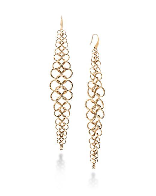 Michael Kors   Metallic Haute Hardware Oversized Chainmail Link Linear Drop Earrings   Lyst