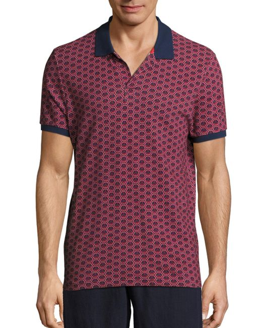 Vilebrequin | Blue Anchor Printed Polo for Men | Lyst