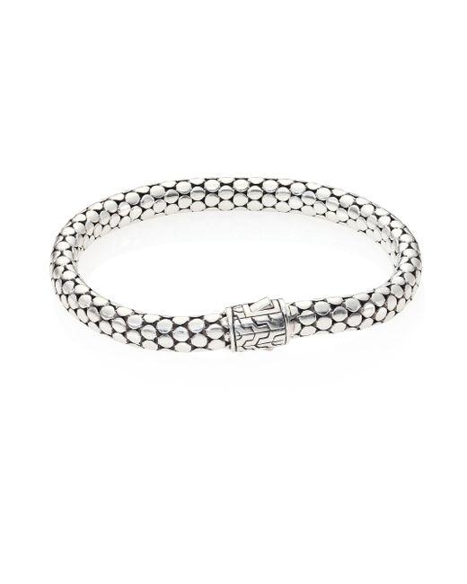 John Hardy - Metallic Dot Sterling Silver Small Chain Bracelet - Lyst