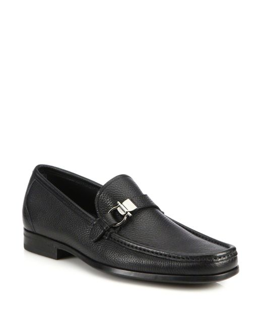 Ferragamo - Black Muller Calfskin Loafers for Men - Lyst