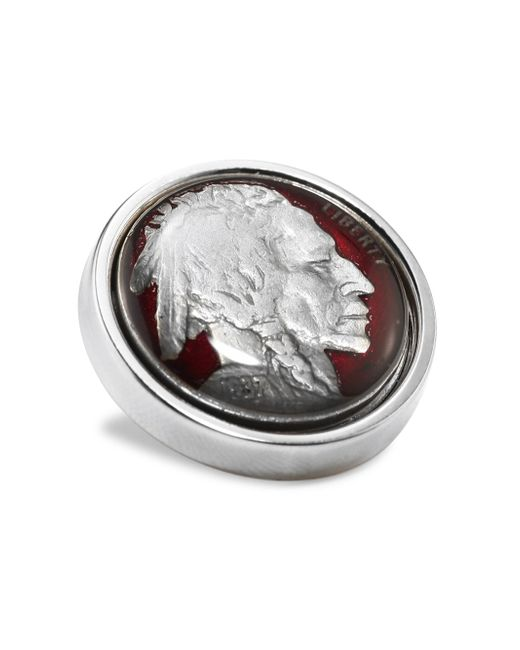 David Donahue - Metallic Sterling Silver Nickel Lapel Pin - Lyst