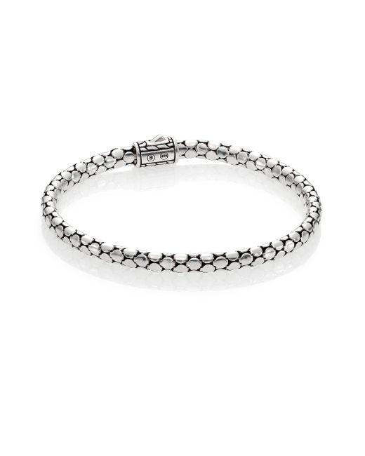 John Hardy - Metallic Dot Sterling Silver Slim Bracelet - Lyst