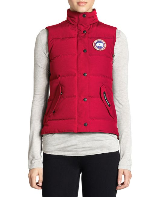 Canada Goose - Red Down Freestyle Vest - Lyst