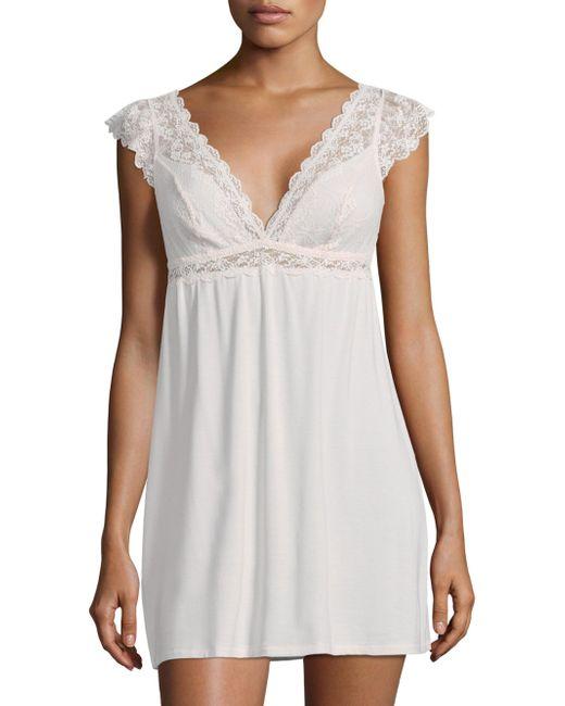 Eberjey | White Kiss The Bride Chemise | Lyst