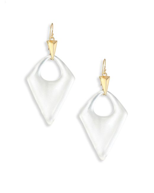 Alexis Bittar | White Pointed Pyramid Lucite Drop Earrings | Lyst