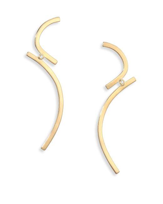 Elizabeth and James   Metallic Selene Earrings   Lyst