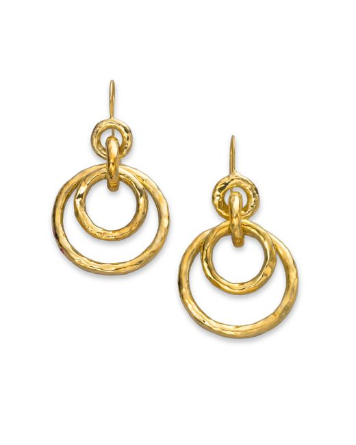 Ippolita - Metallic Glamazon 18k Yellow Gold Mini Jet Set Drop Earrings - Lyst