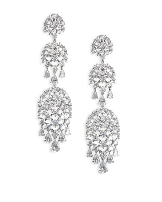 Adriana Orsini | Metallic Pave Drop Chandlier Earrings | Lyst