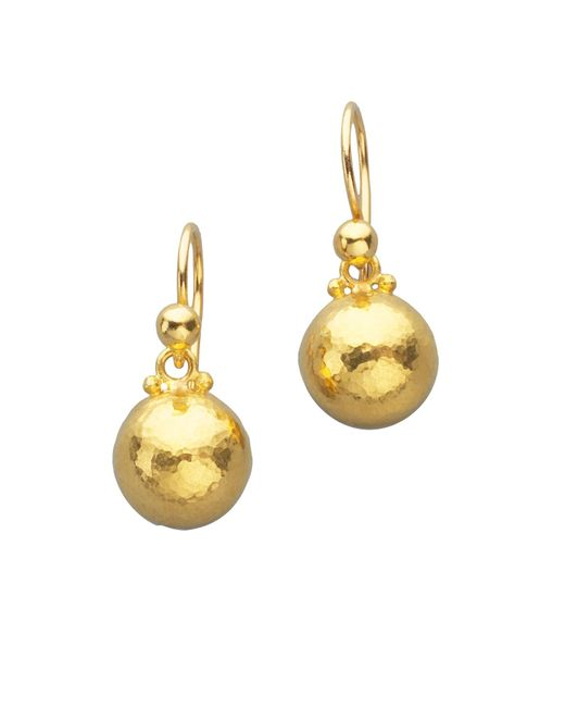 Gurhan | Metallic Amulet 24k Yellow Gold Dome Drop Earrings | Lyst
