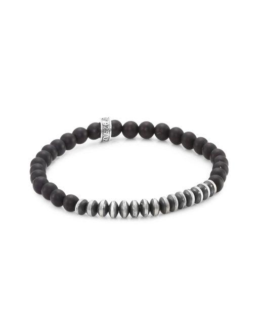 King Baby Studio - Metallic Onyx & Sterling Silver Bracelet for Men - Lyst