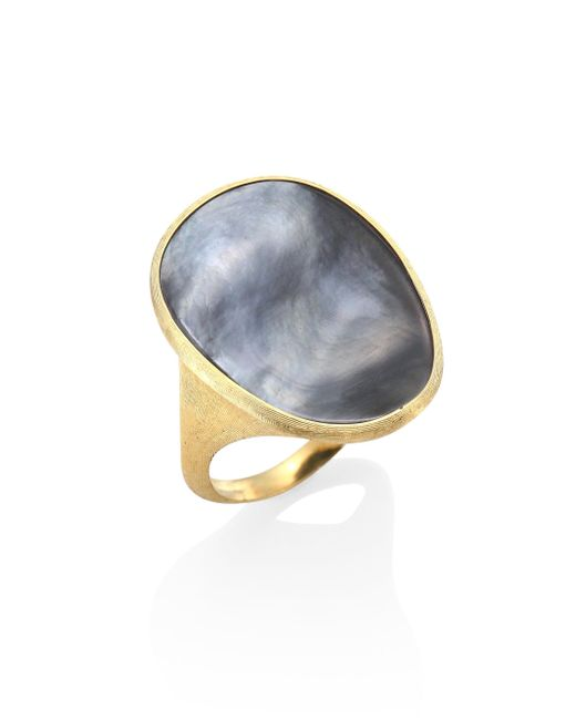 Marco Bicego | Metallic Lunaria Black Mother-of-pearl & 18k Yellow Gold Ring | Lyst