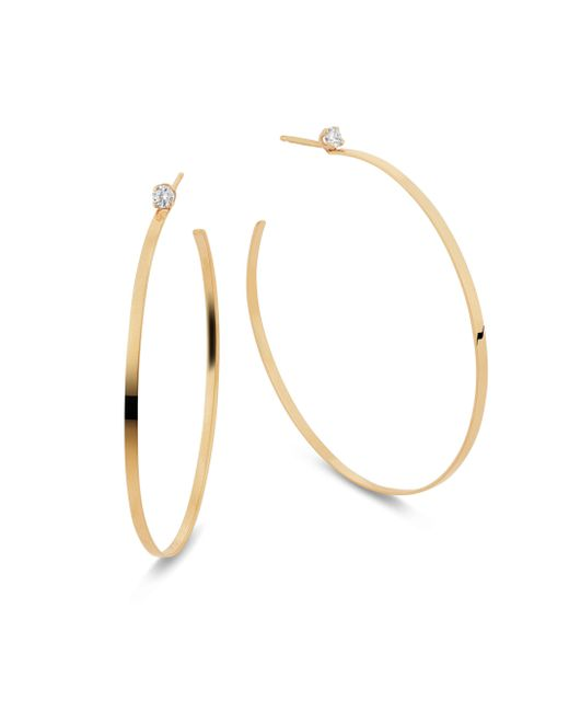 Lana Jewelry - Metallic Sunrise Diamond Hoop Earrings - Lyst