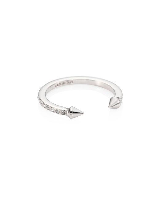 Vita Fede - Metallic Super Ultra Mini Titan Crystal Ring/silvertone - Lyst