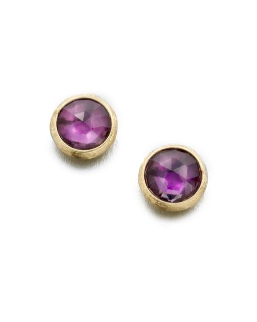 Marco Bicego | Purple Jaipur Amethyst & 18k Yellow Gold Stud Earrings | Lyst